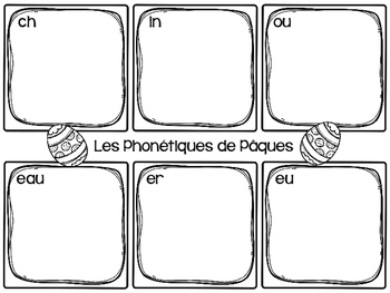 Easter Language and Math Activities- FRENCH