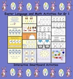 Easter Language and Math Gr 1 (20 Interactive Smartboard Activities)