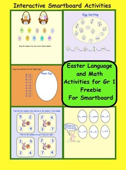 Easter Language and Math Gr 1 Freebie for Smartboard
