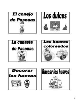 Easter (Las Pascuas) / Holy Week Bulletin Board/Flash Cards in Spanish
