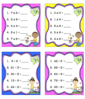 Easter Spring Math and Literacy Centers Printables Task Cards