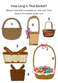 Easter Length Activity - Measuring Baskets