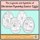Easter/ Lent Pysanky Ukrainian Easter Eggs Read Alouds and Coloring Activities