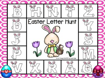 Easter Letter Hunt:  NO PREP Spot and Dot Letter Matching Game