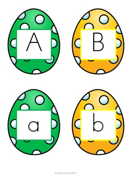 Easter Uppercase Lowercase Letter Match