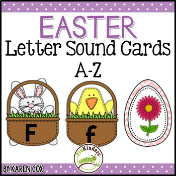 Easter Letter Sound Cards A-Z