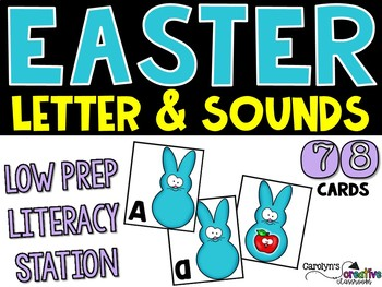 Easter Letters And Sounds Literacy Center - Peeps Version!