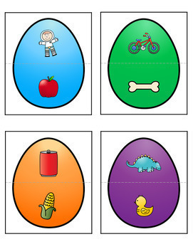 Easter Letters and Beginning Sounds Puzzles