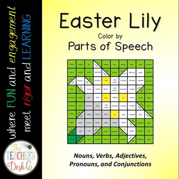 Easter Lily Mystery Picture Parts of Speech