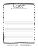 Easter - Lined Paper from Cuddle Bugs Teaching