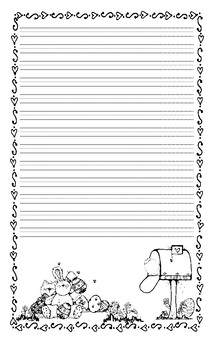 Easter Lined Writing Paper