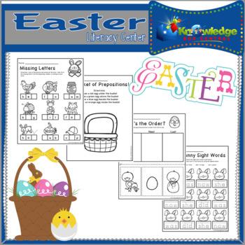 Easter Literacy Center CCSS Aligned for Kindergarten