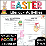 Easter Literacy Activities - NO PREP Worksheets