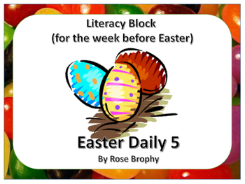 Easter: Literacy Block Activities