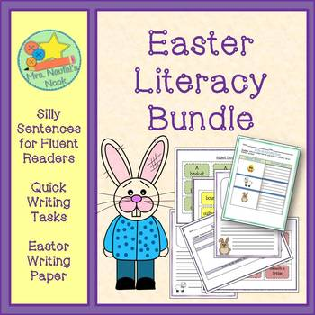 Easter Literacy Activities - Writing Tasks, Silly Sentences and Writing Paper