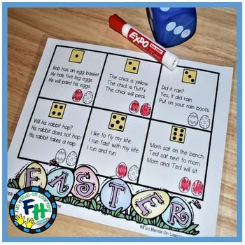 Easter Literacy Center {Fluency Roll & Read}