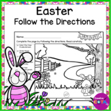 Easter Literacy Center Follow the Directions Activity