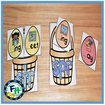 Easter Literacy Center {Phonics Trigraph Sorting}