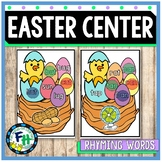 Easter Literacy Center {Rhyming Words Center}