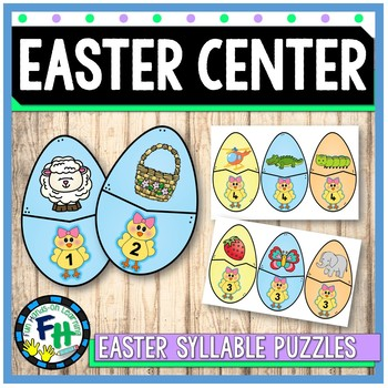 Easter Literacy Center {Syllable Puzzles}