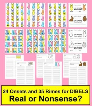 Easter Activities: DIBELS Blending With My Peeps!  Level 1