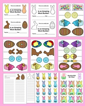 """Easter Activities:  """"Blending With My Peeps!"""" Level 2"""