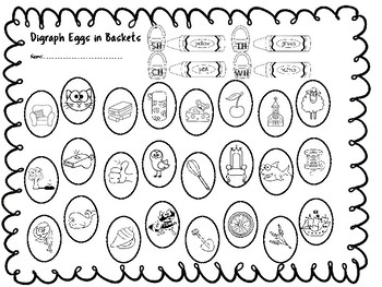 Easter Literacy Centers - Digraph Freebie
