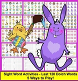 Easter Activities:  Sight Words Level 2 - 5 Card Games and Memory!