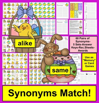 Easter Activities:  Synonyms