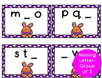 Easter Literacy File Folder Games