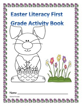 Easter Literacy First Grade Book