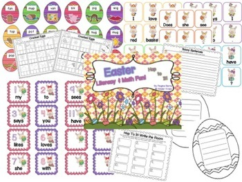 Easter Literacy & Math Fun! Hop to It!