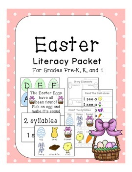Kindergarten Easter Literacy Pack