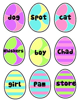 Easter Literacy Pack--COMMON and PROPER NOUNS