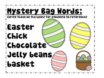 Easter Literacy Pack MYSTERY BAG WORDS