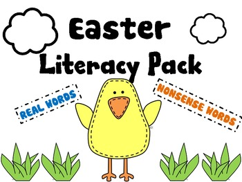 Easter Literacy Packet--Real and Nonsense Words