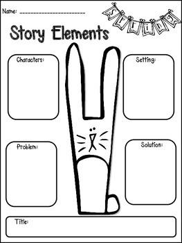 Easter Literacy Print & Go {2nd Grade CCSS}