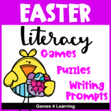 Easter Literacy Activities - Puzzles and Games with Easter Word Search
