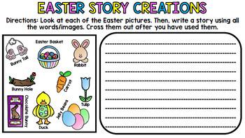 Easter Literacy - Special Education - Life Skills - Print & Go - Spring - ELA