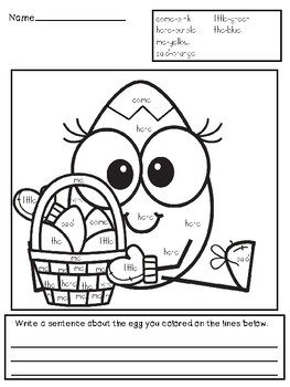 Easter Literacy and Math Actitivities
