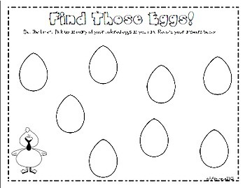 Easter Literacy and Math Activities