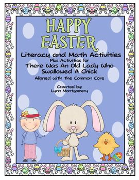 Easter Literacy and Math Activities & An Old Lady Who Swal