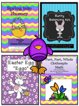 Math and Literacy - Easter  Bundle