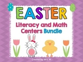 Easter Literacy and Math Centers Bundle