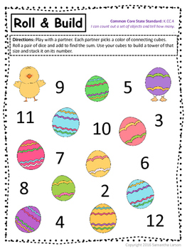 Easter Literacy and Math Pack