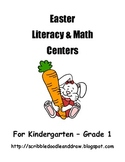 Easter Literacy and Math centers for Kindergarten