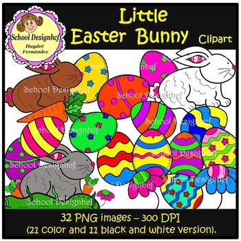 Easter - Little Bunnies and Eggs / Clip Art (School Design)