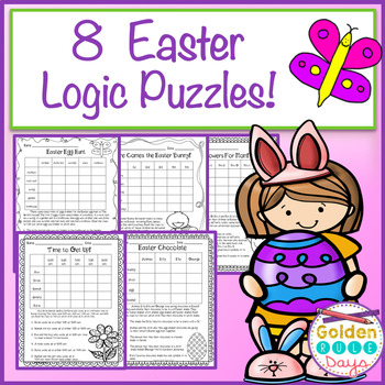 Easter Logic Puzzles for Beginners~Critical Thinking~ Grades 2, 3 & 4