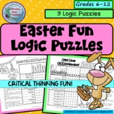 Easter Logic Puzzles, Challenging Critical Thinking Fun, Grades 7 +