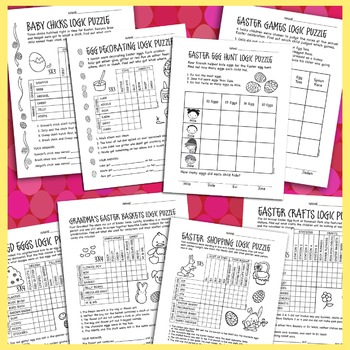 Easter Logic Puzzles Various Levels
